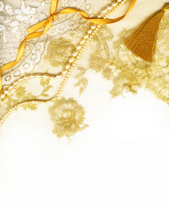 Golden Textile Wedding Border