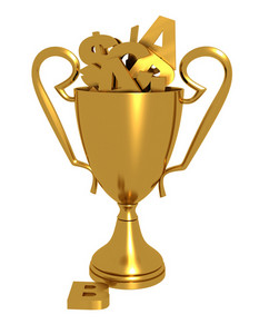 Golden Trophy With Alphabets