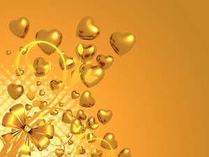 Golden Valentine Background