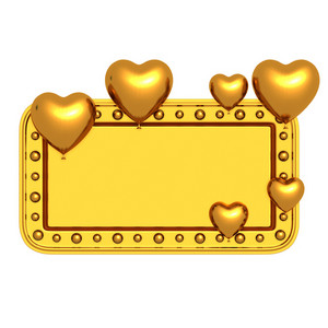 Golden Valentine Banner