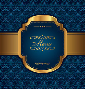 Golden Vintage Menu Design