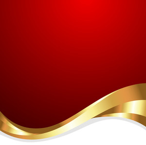 Golden Wave Design Template Banner