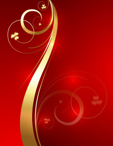 Golden Wave Flourish Vector Design