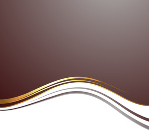 Golden Wave Vector Background