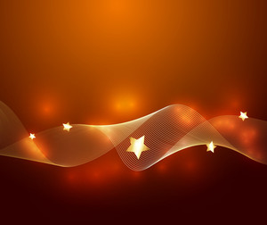 Golden Wavy Sparkles Vector Background