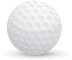 Golf Ball Lite Sports Icon