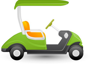 Golf Cart Lite Sports Icon