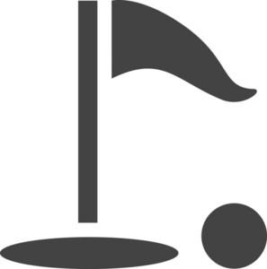 Golf Glyph Icon