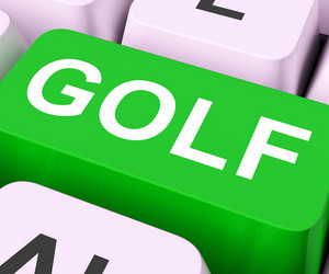 Golf Key Means Golfing Online Or Golfer