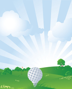 Golf. Vector Illustration