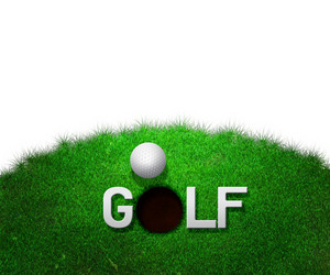 Golf White Background
