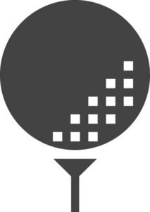 Golfer Glyph Icon