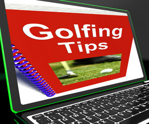 Golfing Tips On Laptop Shows Golfing Advices