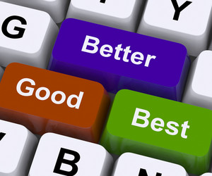 Good Better Best Keys Represent Ratings And Improvement