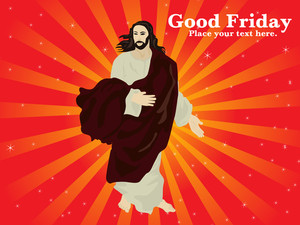 Good Friday Background With Jesus