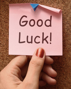 Good Luck Message Shows Best Wishes