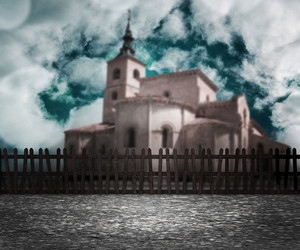 Gothic Church Fantasy Background