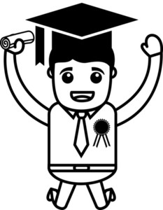 Graduate - Cartoon Vector Illustration