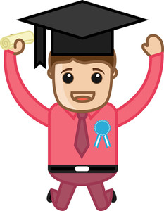 Graduate - Cartoon Vector Illustration