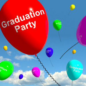 Graduation Balloons Showing School College Or University Graduation