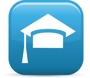 Graduation Cap Elements Glossy Icon