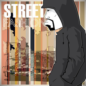 Graffiti Character On A Street-background.
