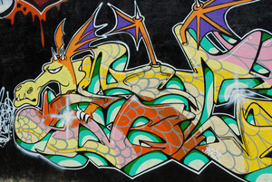 Graffiti Wall (dragon)