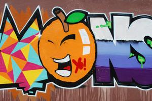 Graffiti Wall (orange)