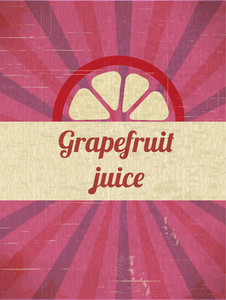 Grapefruit Retro Background (editable Text)