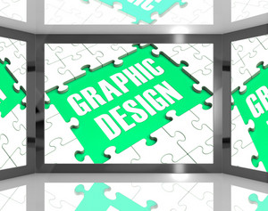 Graphic Design On Screen Showing Graphic Designer