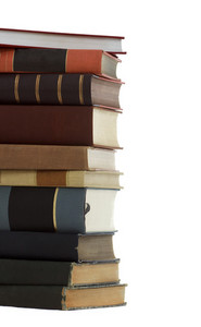 A Stack of Beautiful Antique Books (education, lerning, studying, wisdom)