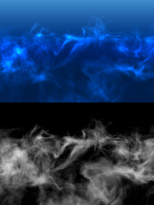Abstrack Smoke Background with Transparency Channel