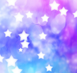Abstract Blue, Purple, Star Lights Background