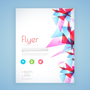 Abstract business flyer, brochure or template design for corporate sector.