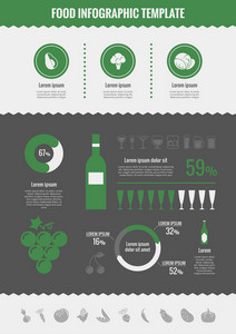 Alcohol Infographic Template. Vector Customizable Elements.