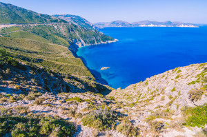 Amazing costline of Kefalonia Island. One of the best places in the world to visit. The best beaches of Greece and the Ionian Sea