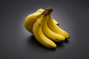 bananas on the black background