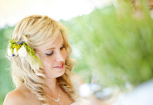 Beautiful bride at the wedding reception