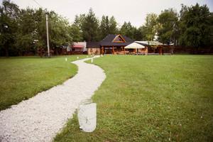 Beautiful outdoor wedding venue in summer park