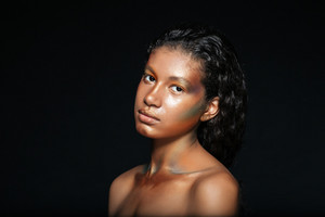 Beauty portrait of african american young woman