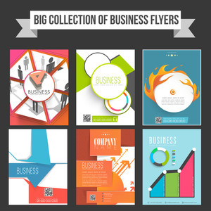 Big collection of Business flyers or templates with infographic elements.