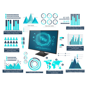 Big set of various infographic elements for Business reports and presentation.