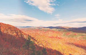 Blue Ridge Mountains in autumn near Asheville, North Carolina