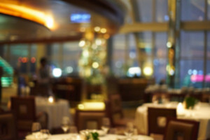 Blurred background : restaurant blur background with bokeh