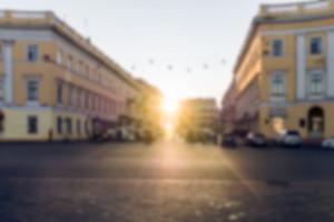 Blurred City Background, Vintage Effect