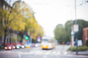 blurred urban milan landscape colored background