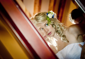 Bride is getting ready for her wedding day