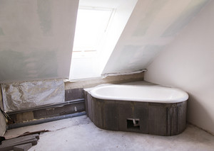 Building site interior . The renovation of a bathroom.