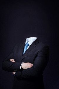 Business consept of a man with no head