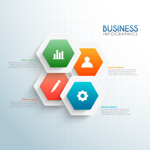 Business infographic elements with web symbols.